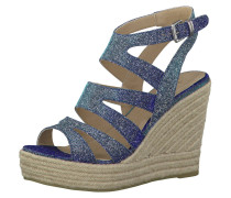 Sandaletten, Keilabsatz, Blau