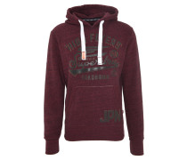 Sweatshirt, Kontrastprint, Marken-Aufnäher, Lila