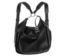 Nola 6, black, backpack grained, Schwarz