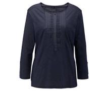 Shirt, 3/4-Arm, Plissee, Ärmelriegel