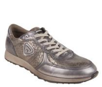 "Sneaker ""Sneak"", Leder, Reptilien-Optik, Metallic-Optik"