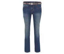 """Jeans """"Alexa Straight"""", Gürtel, Blau"""