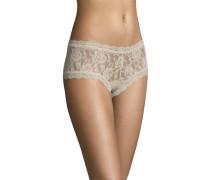 Pants, transparent, Spitzen-Design, Beige