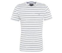 """T-Shirt """"Dalewood"""", Streifen-Design, Logo-Stickerei, Baumwolle, Weiß"""