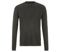 """Pullover """"Core Straight"""", Strick-Muster, Oliv"""