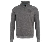 Sweatshirt, Melange, Stehkragen, Reißverschluss