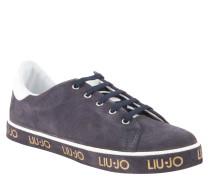 """Sneaker """"Jess"""", Veloursleder, bedruckte Sohle, Grau"""