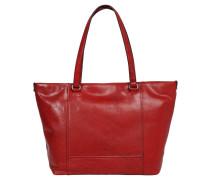 "Shopper ""Lugano"", Leder, Vintage-Stil, Tragegriff, Rot"