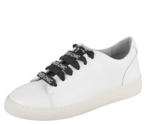 Sneaker low, Leder, Print-Schnürung