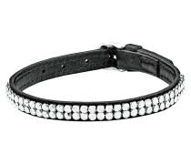Armband Leder mit hellen Swarovski-Kristallen