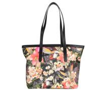 "Shopper ""FLORIA"", Lederoptik, All-Over-Print, Mehrfarbig"