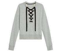 Sweatshirt, Schnürung, Baumwolle