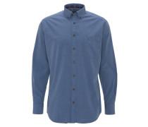 Hemd, Modern Fit, meliert, Button-Down-Kragen