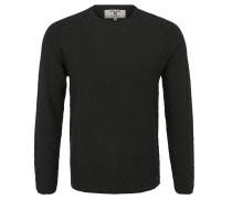 Pullover, Baumwolle, Struktur-Muster, Roll-Saum, Grün