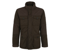 Winterjacke, Outdoor-Optik, funktionale Taschen, Braun