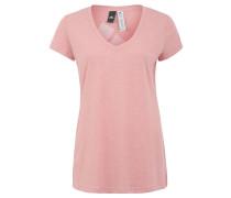 T-Shirt, meliert, Logo-Print, Flammgarn