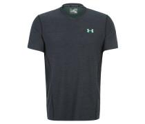 T-Shirt, HeatGear, zweifarbige Rückenpartie,für Herren, Schwarz