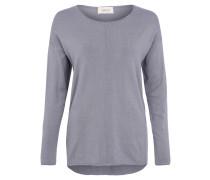 Pullover, geripptes Gewebe, Ziernaht, Blau