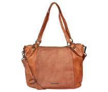 "Handtasche ""Urban Style"", Leder, Strukturmix, Braun"