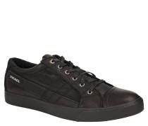 Sneaker Low, Leder, Schwarz