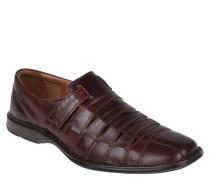 Slipper, Leder, herausnehmbares Fußbett, Braun