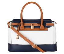 """Handtasche """"Nathalie"""", dreifarbig, Leder-Optik, Weiß"""