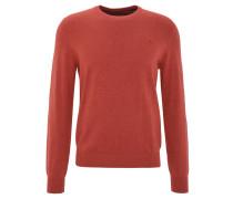 Pullover, Feinstrick, Baumwolle, uni, Rot