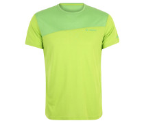 Fahrrad-T-Shirt, atmungsaktiv, mit Wollanteil, Grün