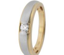 Solitär Ring Platin 950/Gold 750 mit Diamant