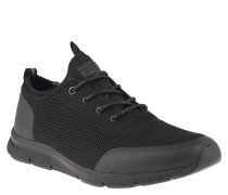 "Sneaker ""Grount"", Mesh-Oberfläche, Schuhlasche, Schwarz"