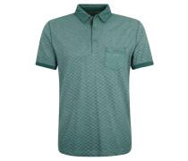Poloshirt, Baumwolle, gemustert, Brusttasche, Grün