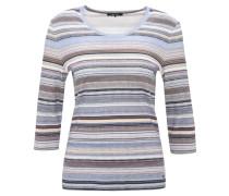 Shirt, 3/4-Arm, gestreift, Baumwolle, Blau