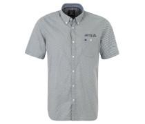 Freizeithemd, Muster, Button-Down-Kragen, Blau