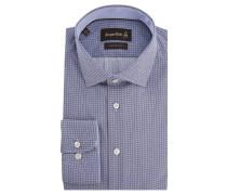 Businesshemd, Custom Fit, Punkte-Design, Blau