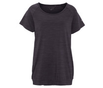 T-Shirt, atmungsaktiv, schnelltrocknend, für Damen, Schwarz