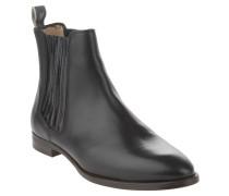 Chelsea Boots, Glattleder, bedeckte elastische Einsätze, Schwarz