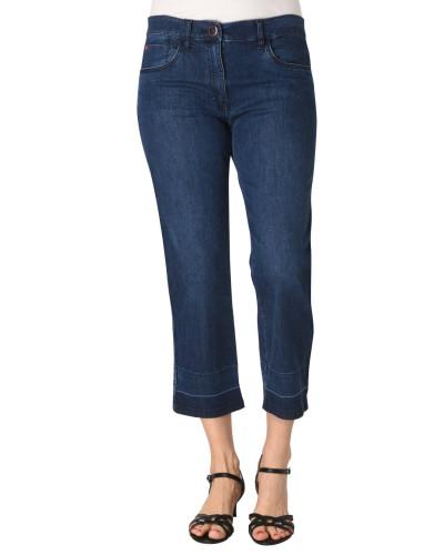 Jeans, Slim Fit, 7/8, Galonstreifen, Streifen-Details, Comfort Waistband