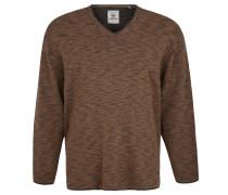 Pullover,Strick, Große Größen, Rollsäume, Braun