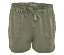 Shorts, weit geschnitten, geschnürter Gummibund, metallenes Emblem
