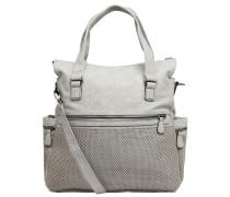 Handtasche, Kunstleder, mehrere Fächer, Grau