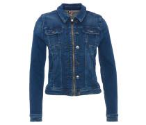 Jeansjacke, Reißverschluss, Zierknöpfe, Blau