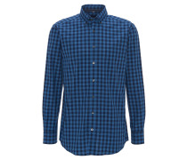 Freizeithemd, Modern Fit, Button-Down, Blau