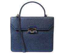 """Handtasche """"Chiara"""", genarbtes Leder, Blau"""
