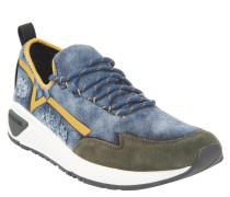 Sneaker, flexibles Material, Jeans-Optik, Blau