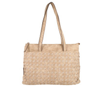 "Shopper ""Another Day"", Flecht-Optik, Lederimitat, Beige"