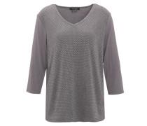 T-Shirt, 3/4-Ärmel, Glanz, V-Ausschnitt