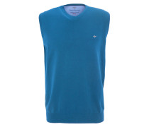 Pullunder, Logo-Stickerei, Baumwolle, Blau