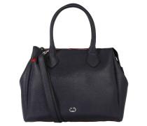 Handtasche, unifarben, Lederoptik, Geldbeutel, Blau