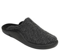 "Pantoffeln ""Mokasso"", Woll-Optik, flexible Laufsohle, Grau"