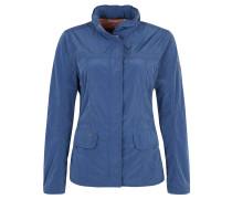 Jacke, wasserabweisend, herausnehmbare Kapuze, Blau